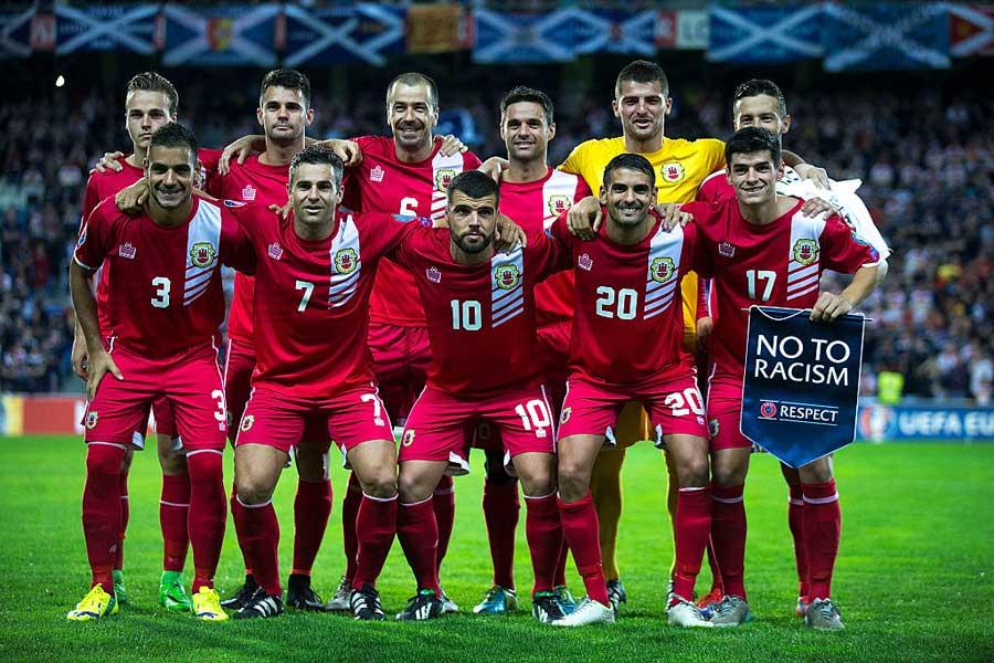 小国ジブラルタルが公式戦23戦目で悲願の初勝利【写真:Getty Images】
