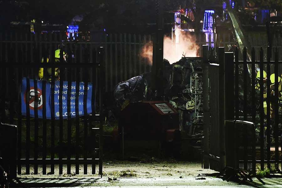 スタジアム付近でオーナーの所有するヘリコプターが墜落し大炎上する事故が起こった【写真:Getty Images】