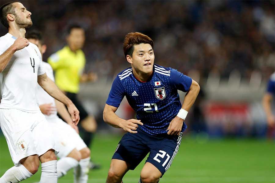 日本代表MF堂安律【写真:田口有史】