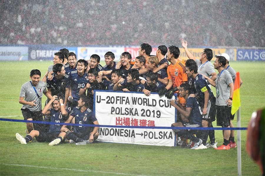 日本は準決勝進出と来年のU-20W杯ポーランド大会への出場権を獲得した【写真:ⒸAFC】