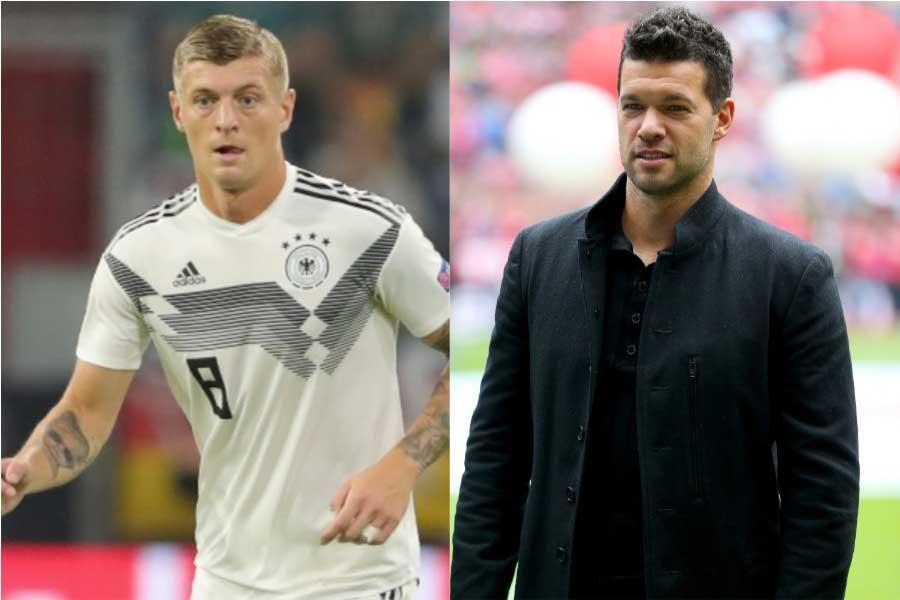 (左から)ドイツ代表MFトニ・クロース、同代表OBのバラック氏【写真:Getty Images】