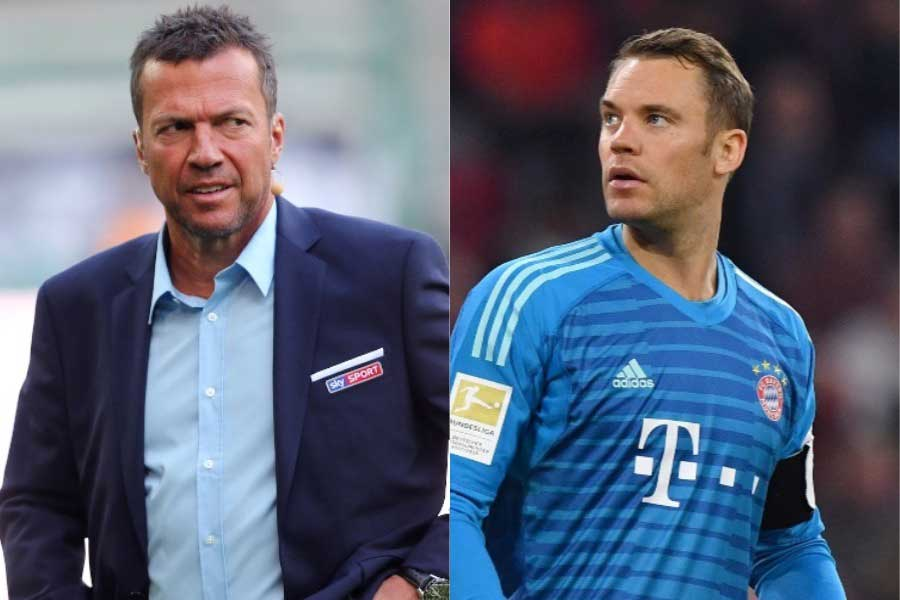 ドイツ代表のレジェンドであるマテウス氏(左)の批判をノイアー(右)が一蹴【写真:Getty Images】
