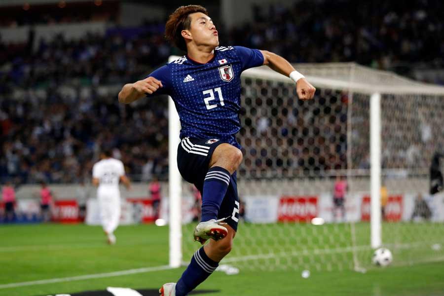 日本代表MF堂安【写真:田口有史】