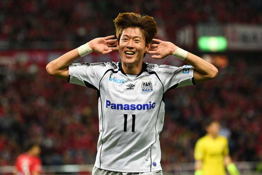 現在、リーグ6戦連続ゴールを決めているガンバ大阪FWファン・ウィジョ【写真:Getty Images】