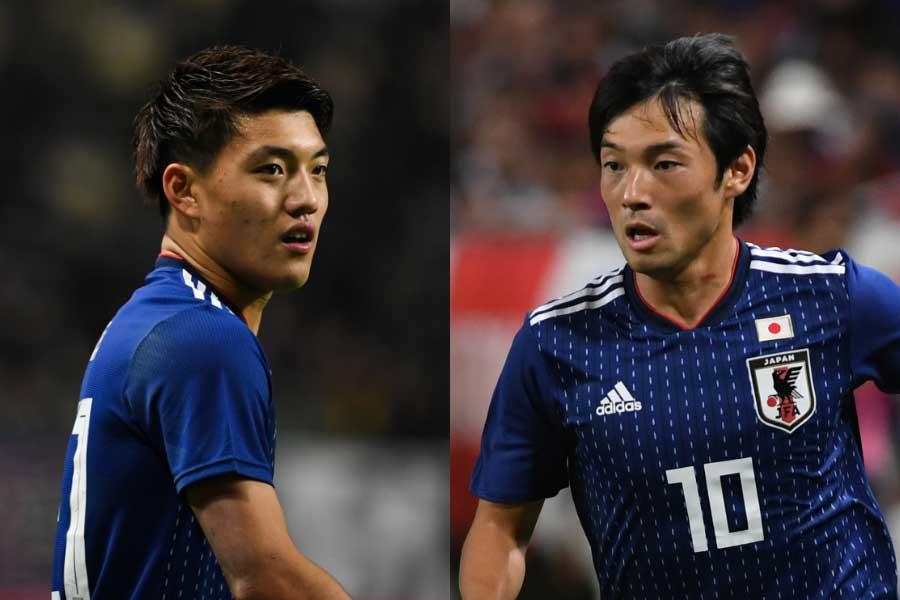 日本代表のMF堂安律(左)、MF中島翔哉(右)【写真:Getty Images】