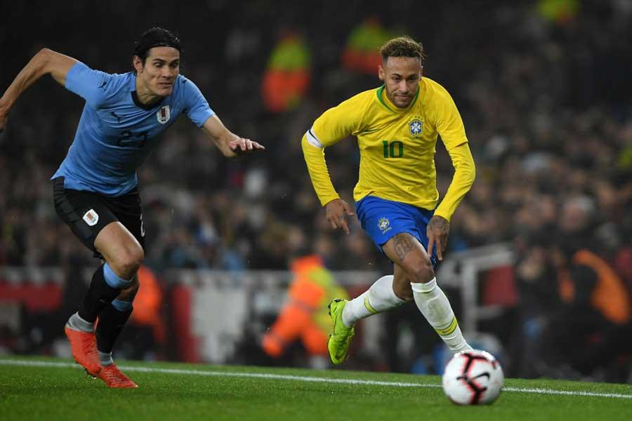 ブラジル代表は、現地時間16日にロンドンでウルグアイ代表と対戦し1-0で勝利した【写真:Getty Images】