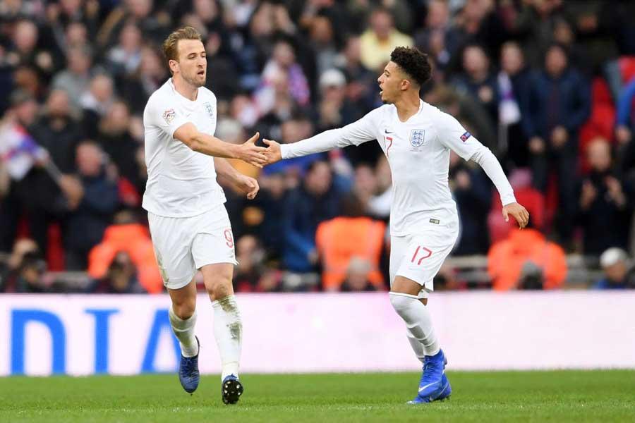 イングランド代表がPO進出を懸けた大一番で2-1と勝利し、グループ首位を勝ち獲る【写真:Getty Images】