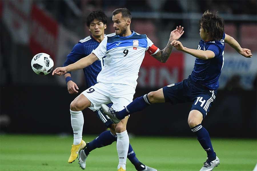 日本がキルギスを圧倒、2-0で後半へ【写真:Getty Images】