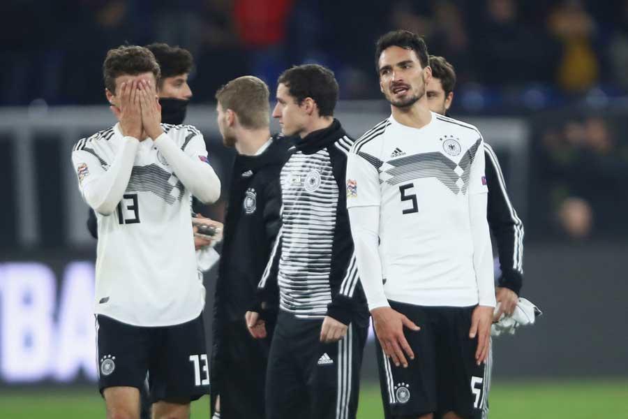 思いを新たにネーションズリーグに臨んだものの、結局1勝もできないまま2分2敗でリーグBに降格することになったドイツ代表【写真:Getty Images】