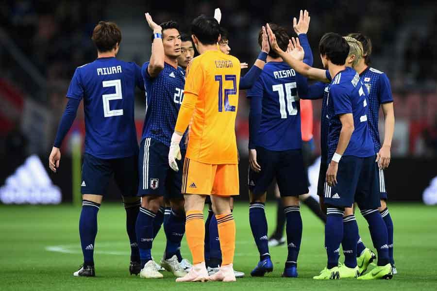 20日の国際親善試合でキルギスに4-0で勝利した日本代表【写真:Getty Images】
