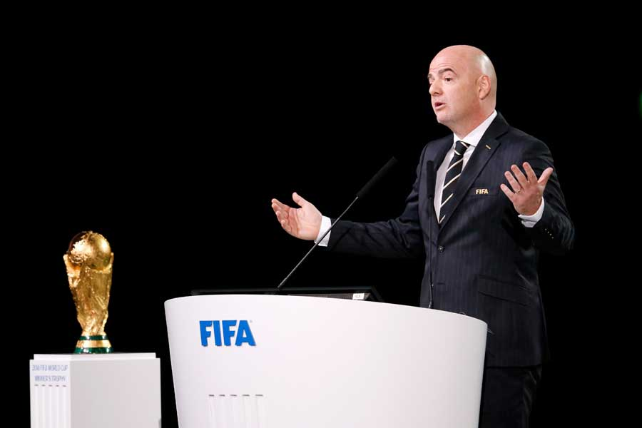 FIFAのジャンニ・インファンティーノ会長【写真:AP】