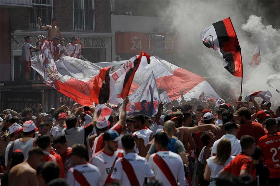 リベルタドーレス杯決勝は、リーベルサポーターによる暴動が起きたため再延期となっていた【写真:AP】