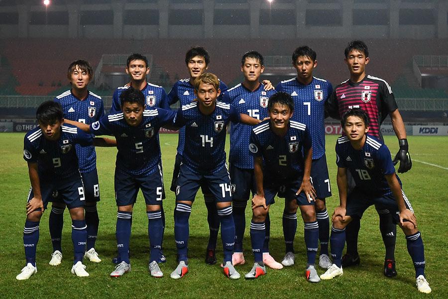 U-19日本代表は大会ベスト4進出を決めるとともに来年のU-20W杯出場権を手にした【写真:ⒸAFC】