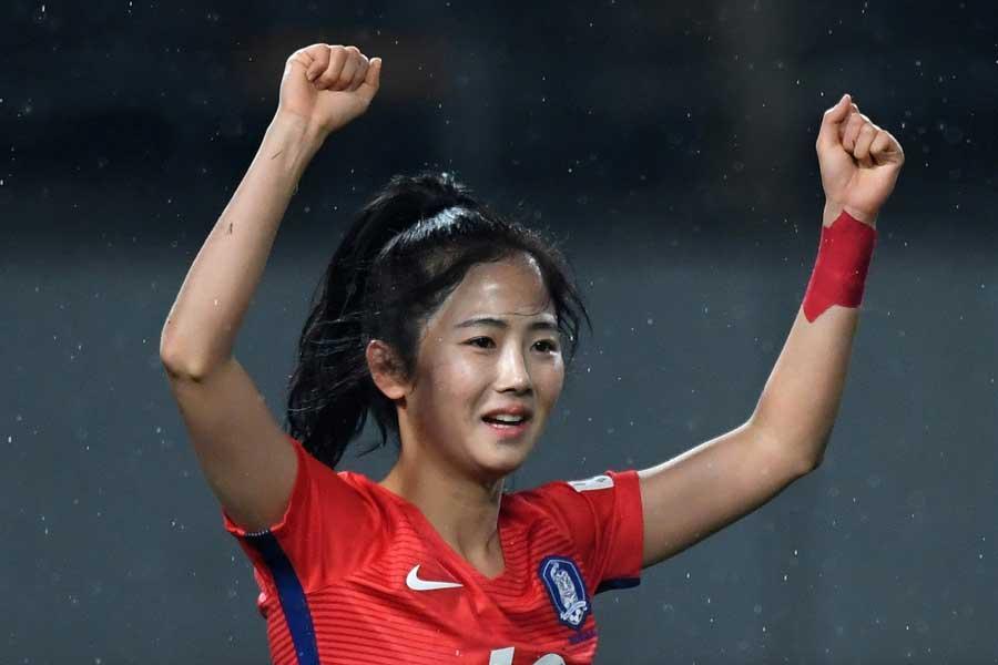 韓国女子代表のエース格であるMFイ・ミナ【写真:Getty Images】