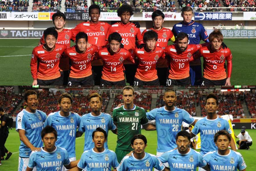 名古屋が15位でJ1残留、磐田が参入プレーオフ決定戦行きの16位となった【写真:Getty Images】