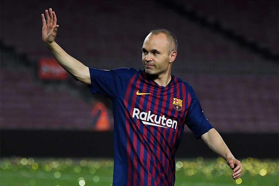昨季限りで下部組織から22年間過ごしたバルセロナを退団したイニエスタ【写真:Getty Images】