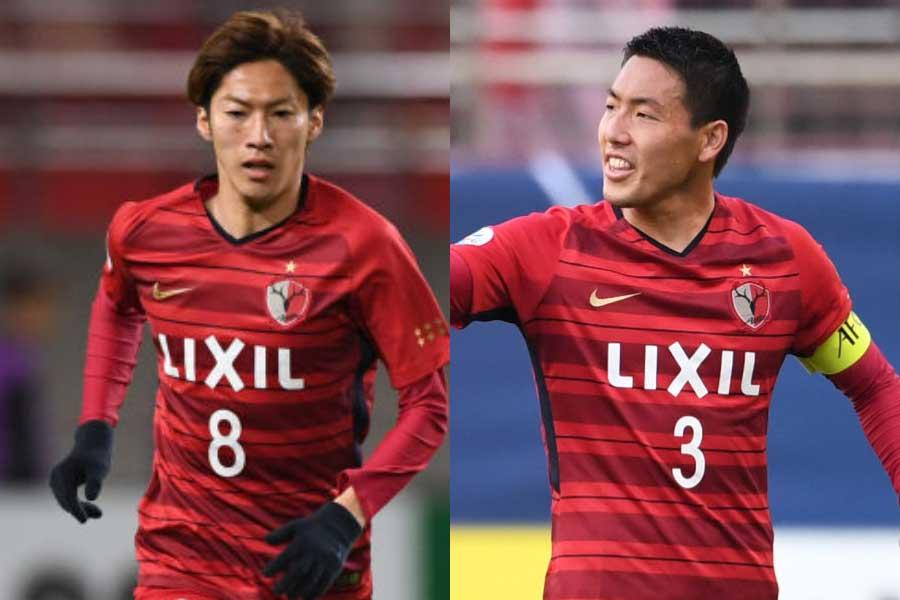 (左から)鹿島アントラーズMF土居、DF昌子【写真:Getty Images】