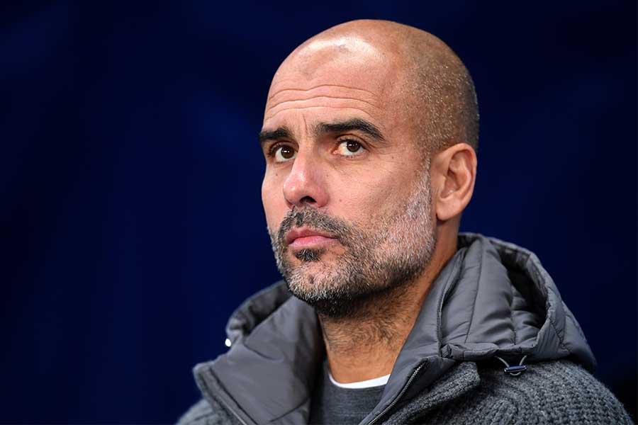 シティを率いるグアルディオラ監督が、今季無敗のリバプールに言及【写真:Getty Images】
