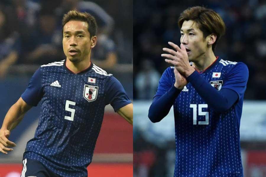 (左から)日本代表DF長友、FW大迫【写真:Getty Images】
