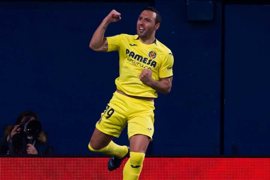 レアル相手にリーグ戦での今季初ゴールを含む2得点を決めたMFサンティ・カソルラ【写真:Getty Images】