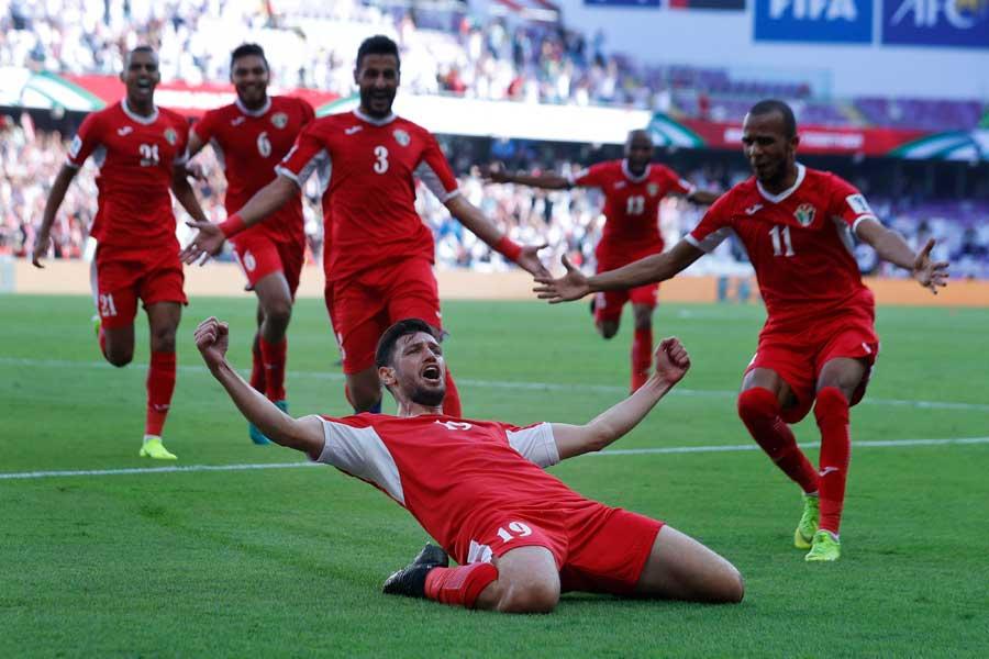 ヨルダン代表が前回王者オーストラリア代表に勝利!【写真:AP】