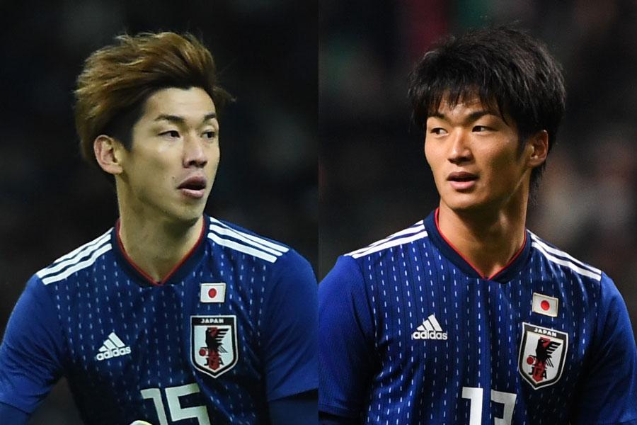 日本代表のFW大迫勇也(左)、FW北川航也(右)【写真:Getty Images】