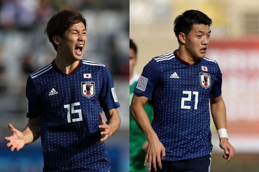 (左から)日本代表FW大迫、MF堂安【写真:Getty Images】