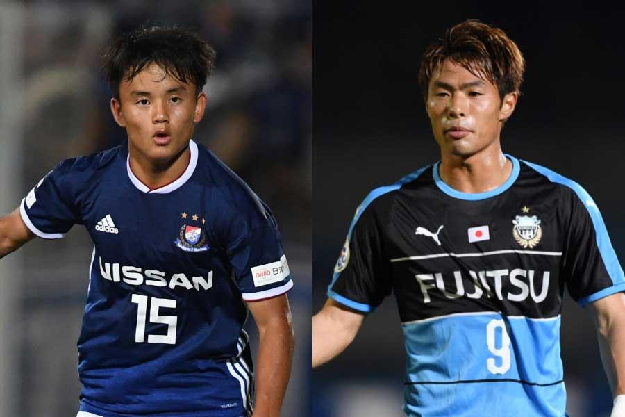 久保(左)がFC東京に復帰、赤﨑(右)は名古屋へ期限付き移籍【写真:Getty Images】