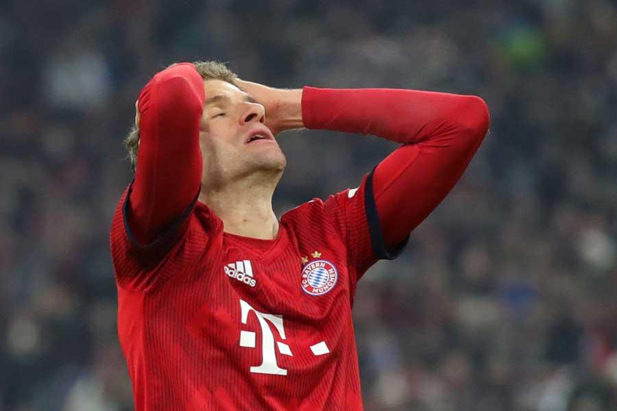 UEFAはバイエルンのFWトーマス・ミュラーに対し、直近のUEFA主催試合2試合の出場停止処分を下した【写真:Getty Images】