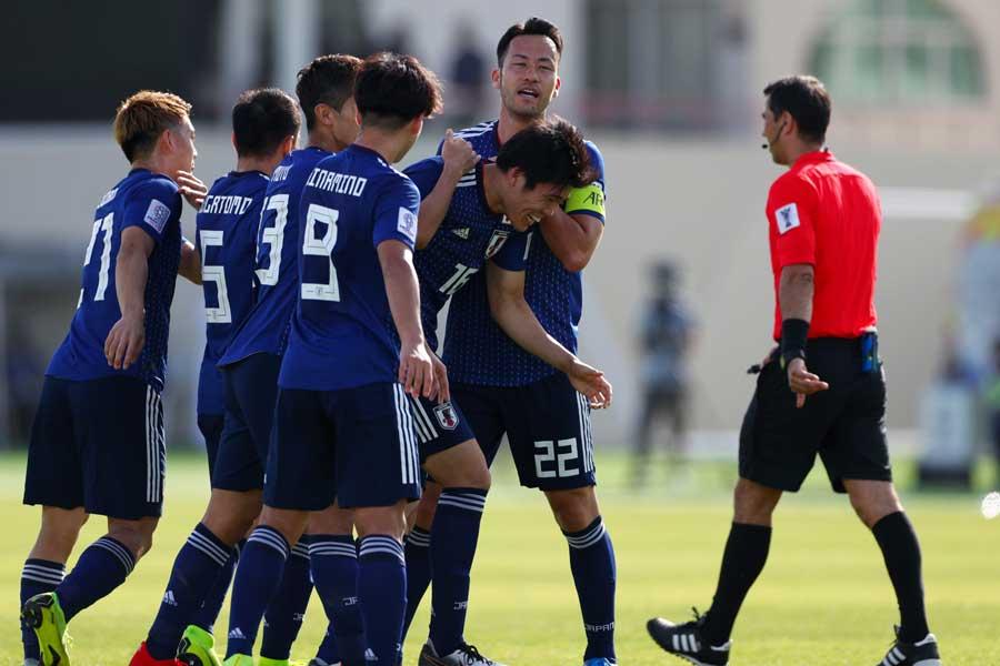 冨安健洋の先制点を最後まで守りきり、日本が1-0で勝利した【写真:Yukihito Taguchi】