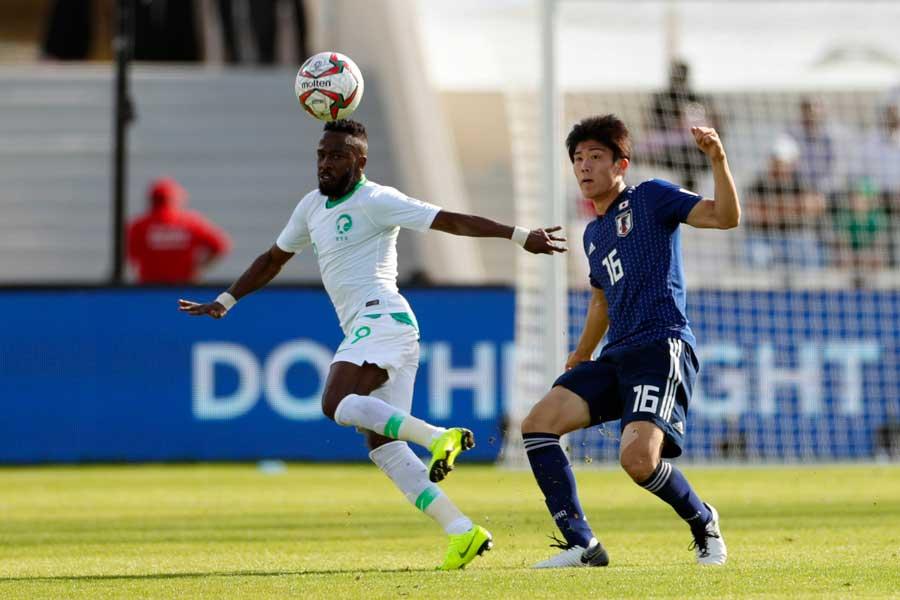 サウジアラビアにボール支配率で圧倒されるも、被枠内シュート数を「1」に封じた日本の守備陣【写真:Yukihito Taguchi】