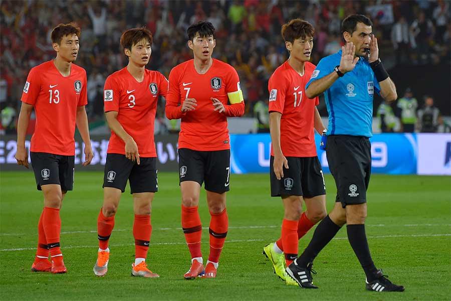 韓国がアジアカップ準々決勝でカタールに0-1で敗れた【写真:Getty Images】