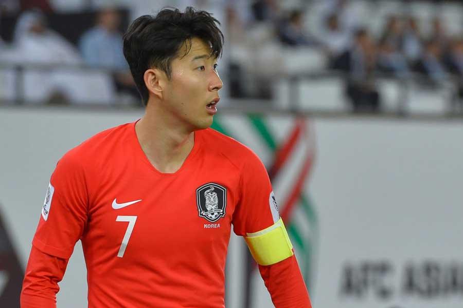 アジアカップでチームを離れている韓国代表のFWソン・フンミン【写真:Getty Images】