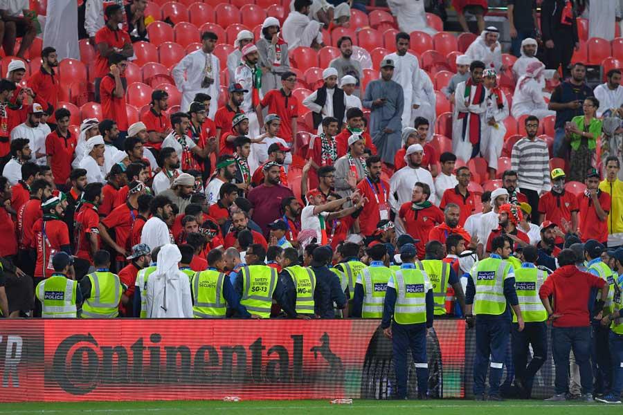 """UAEサポーターの""""靴投げ""""が物議を醸している(写真はイメージです)【写真:Getty Images】"""