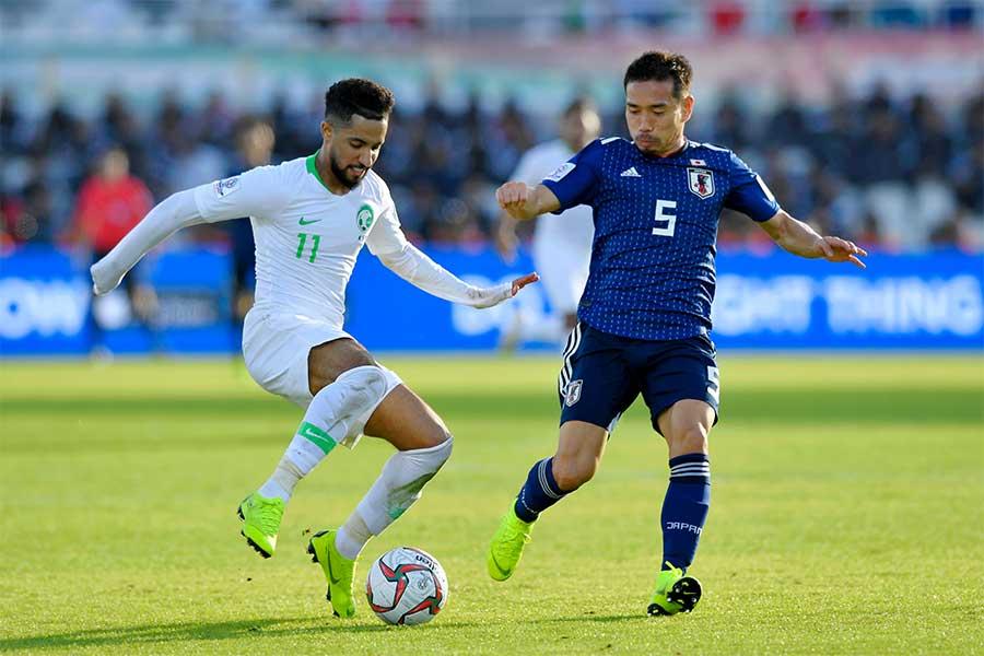 サウジアラビア戦ではボール支配率「23.7%」で相手に圧倒されるも、被枠内シュート数を「1」に封じた【写真:Getty Images】