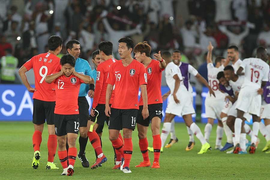 韓国は準々決勝でカタールに敗れ、ベスト8で姿を消すことになった【写真:©AFC】