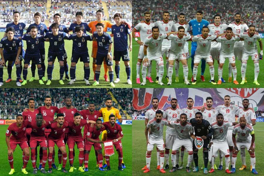 アジアカップのベスト4進出チームが出揃った【写真:Getty Images & AP】