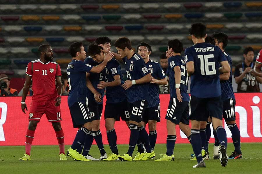 日本代表、原口のPK弾でオマーンに1-0勝利【写真:AP】