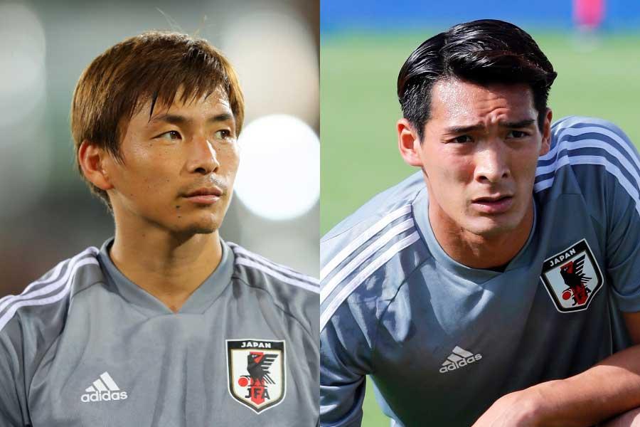 日本代表のMF乾貴士(左)、DF槙野智章(右)【写真:Getty Images & AP】
