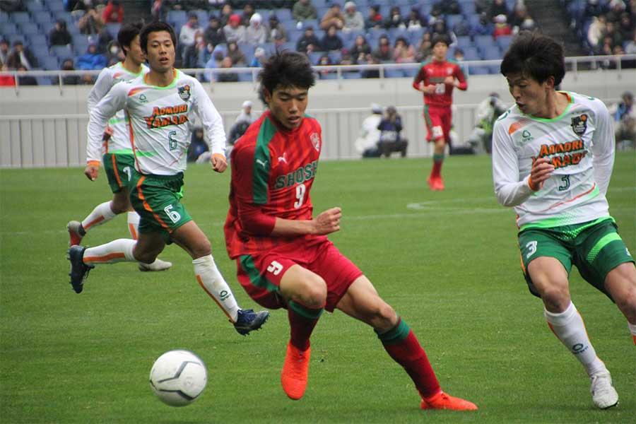 青森山田戦でハットトリックを達成したFW染野唯月【写真:Football ZONE web】