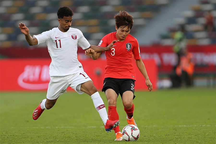 韓国がカタールに敗れて8強敗退【写真:AP】