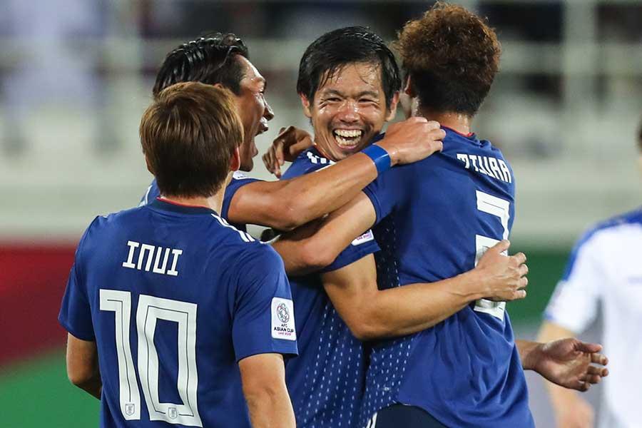 日本代表DF塩谷のゴールがアジア杯ベストゴール候補にノミネートされた【写真:ⒸAFC】