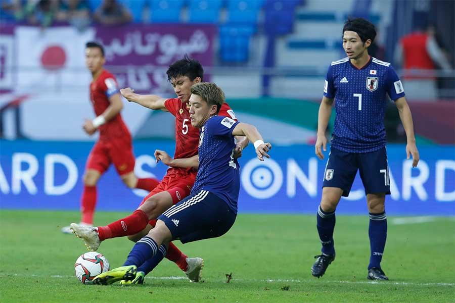 アジア杯8強ベトナム戦は前半を0-0で折り返した【写真:AP】