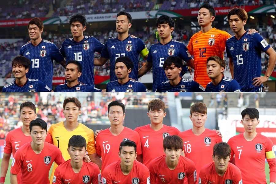 韓国メディアが自国と日本を比較【写真:田口有史 & AP】