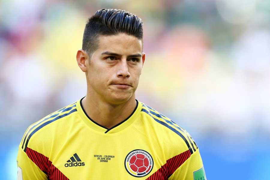 コロンビア代表で「背番号10」をつけるハメス【写真:Getty Images】
