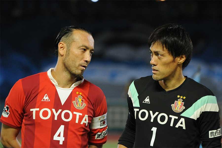 DF闘莉王がかつて名古屋と日本代表で共闘したGK楢﨑について語った【写真:Getty Images】