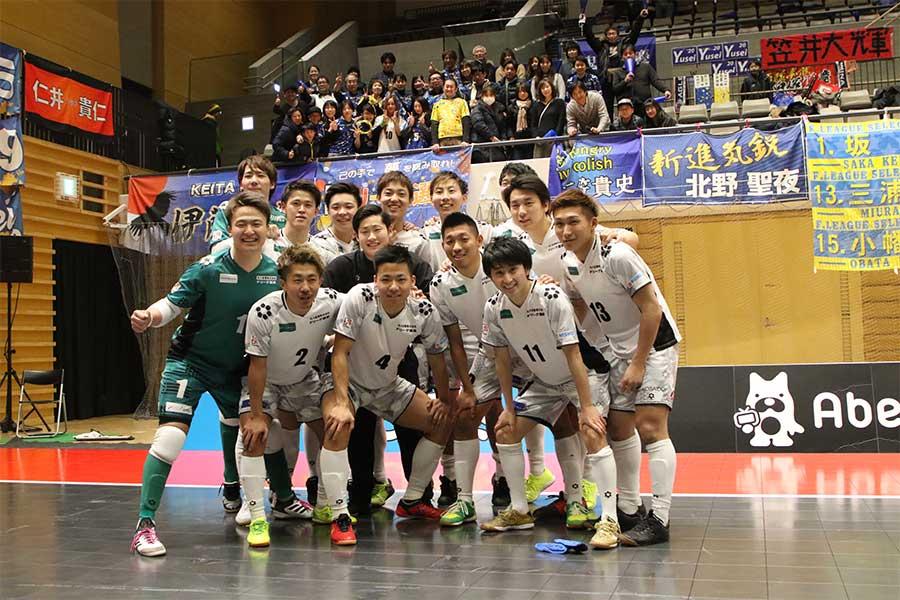 「Fリーグ選抜」の選手たち【写真:河合拓/Futsal X】