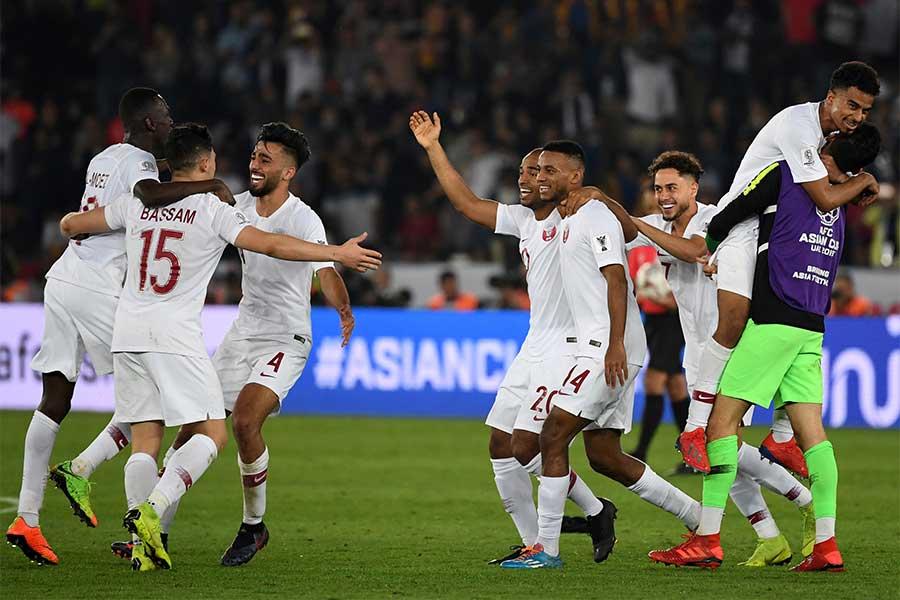 カタール代表がアジアカップ初優勝を飾った【写真:AP】