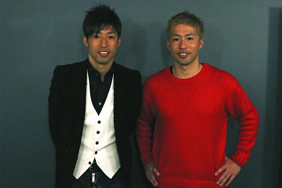 森﨑和幸氏(左)、浩司氏(右)【写真:Football ZONE web】