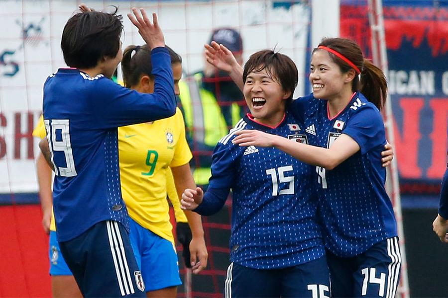 なでしこジャパンがブラジルに3-1で勝利【写真:Getty Images】